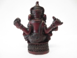 Red Ganesha statue small