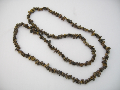 Thin Mineral necklace 90cm Tigereye