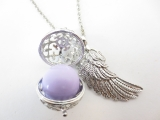 Angel Caller with lilac chime ball