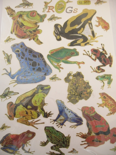 Stickers Frogs 1 page