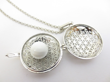 Angel Caller flower of life white