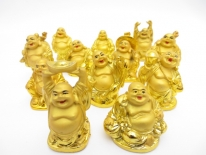 5cm Buddha Gold collection 12 pieces